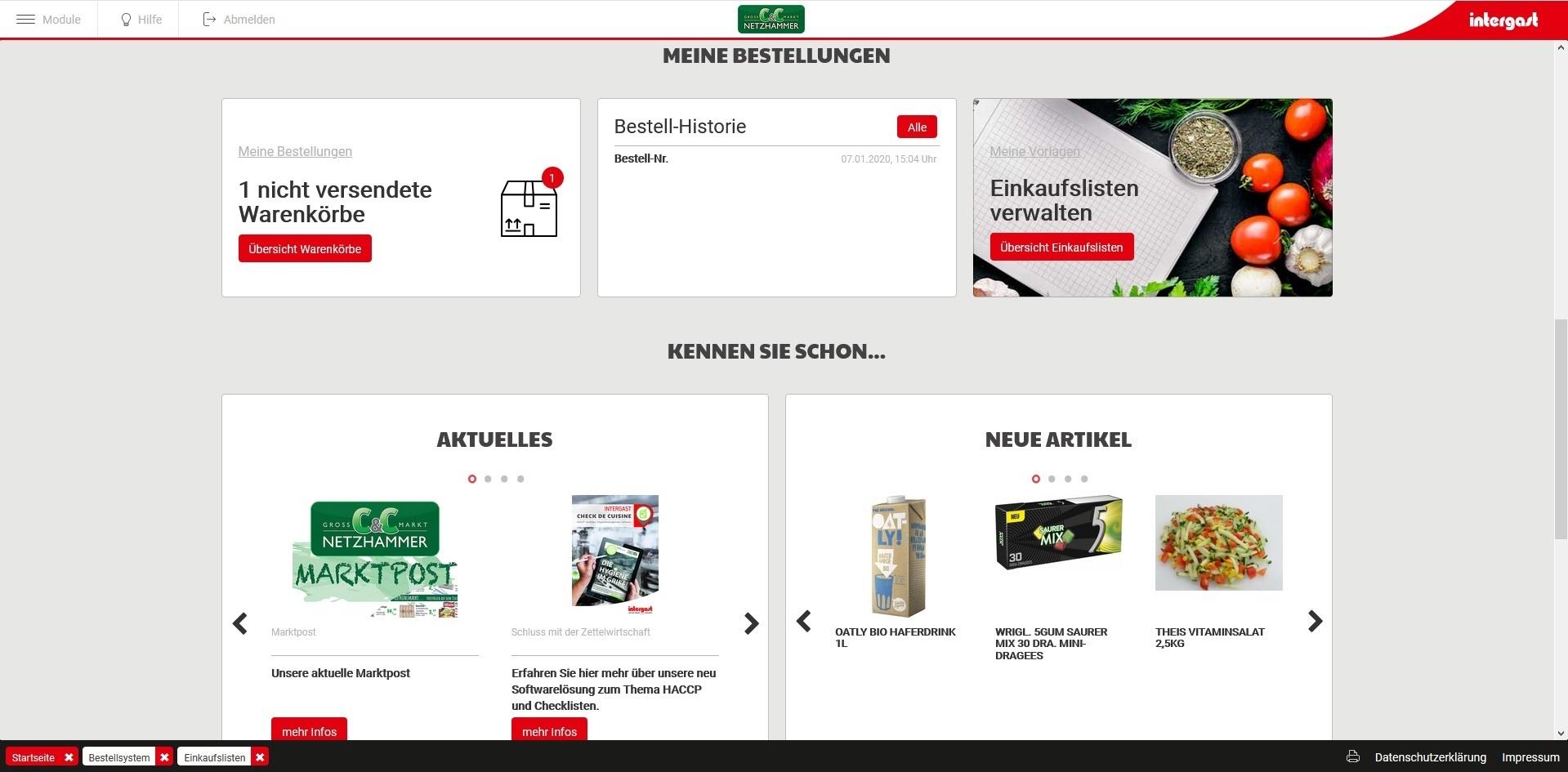 Service Webshop Bestellungen