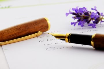 Schreibfeder Brief