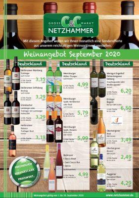 Angebot Wein September