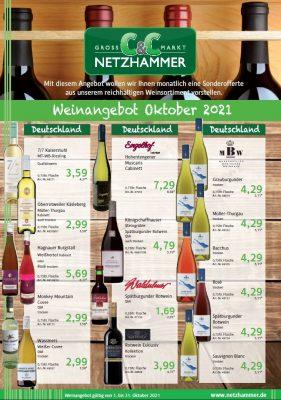Angebot Wein des Monats Oktober