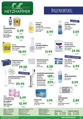 Angebote Hygiene