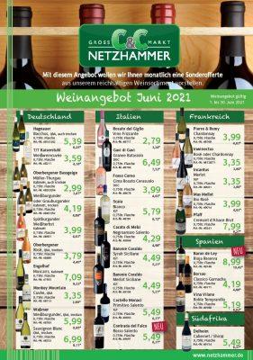 Angebot Wein des Monats Juni 2021
