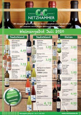 Angebot Wein Juli