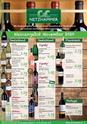 Weinangebot November 2020